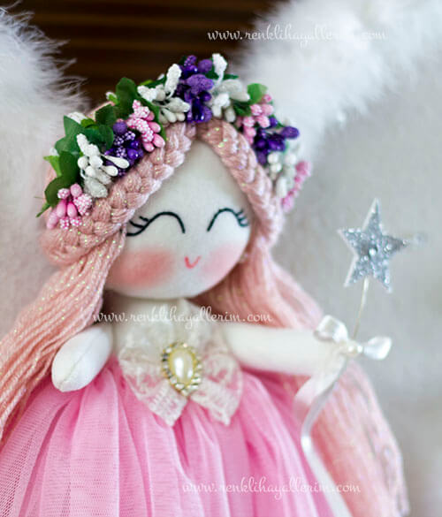 Sardunya melek kız bebek kapı süsü 8