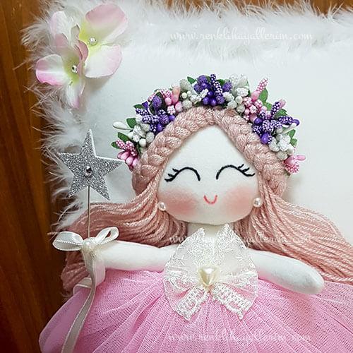Sardunya melek kız bebek takı ve süs yastığı 2