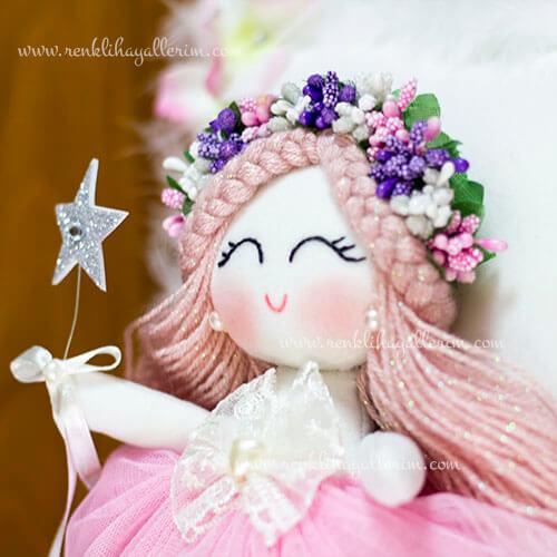 Sardunya melek kız bebek takı ve süs yastığı 3