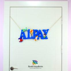 Alpay isimli bebek odası kapı süsü