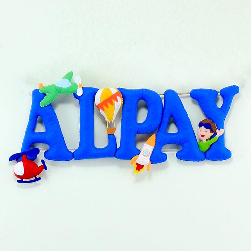 Alpay isimlik isimlik kapı süsü