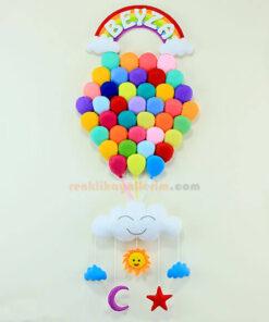 Beyza isimli Çoklu Balon Bebek Kapı Süsü