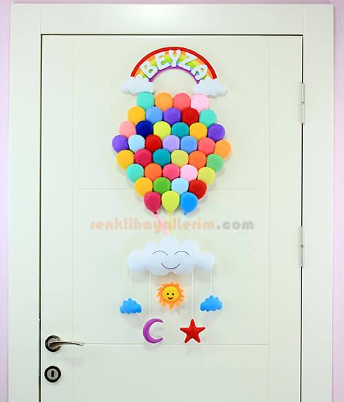 Beyza isimli Çoklu Balon Bebek Kapı Süsü Kapı
