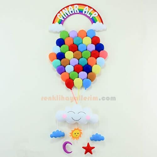 Çınar Alp isimli Çoklu Balon Bebek Kapı Süsü Kapı