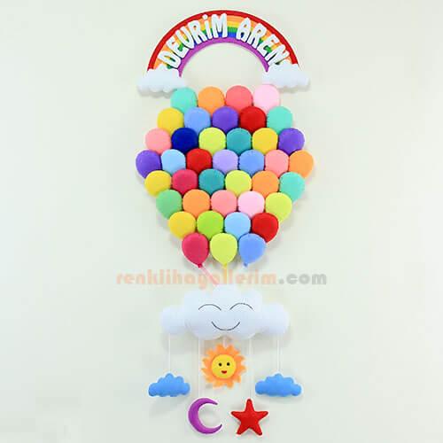 Devrim Aren isimli Çoklu Balon Bebek Kapı Süsü Kapı