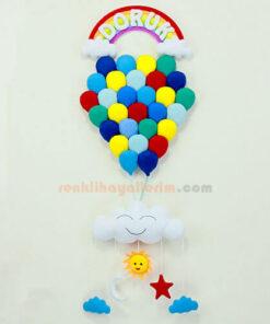 Doruk isimli Mavilikler Çoklu Balon Bebek Kapı Süsü Kapı
