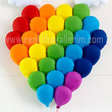 Gökkuşağı balon dizilimi