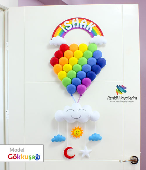Gökkuşağı Balonlar Kapı Süsü - İshak