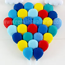 Mavilikler balon dizilimi