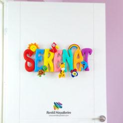 Serenat İsimli Bebek Odası Kapı Süsü