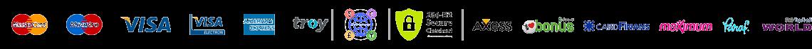 Tüm Kartlar ve Para Birimleriyle Güvenli Ödeme Sistemi