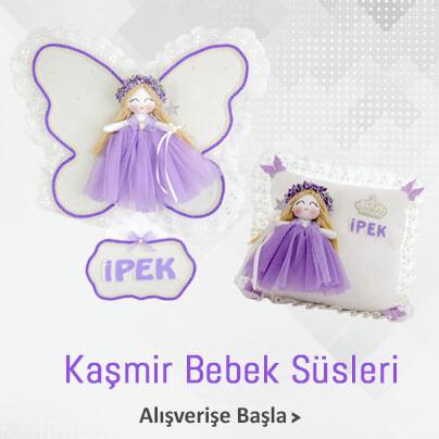 Kaşmir Melek Kanatlı Kız Bebek Süsleri
