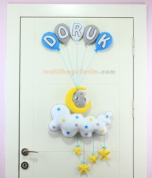 Doruk isimli Balonlu Aydede Fil Kapı Süsü