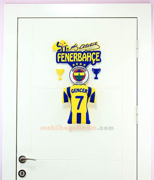 Gencer isimli Fenerbahçe Çocuk Odası Kapı Süsü
