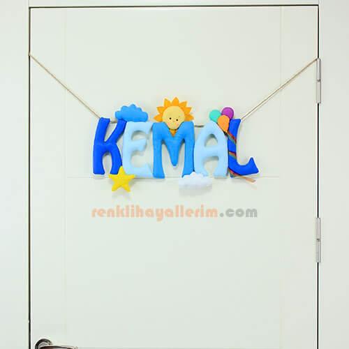 Kemal isimli isimlik Bebek Kapı ve Oda Süsü