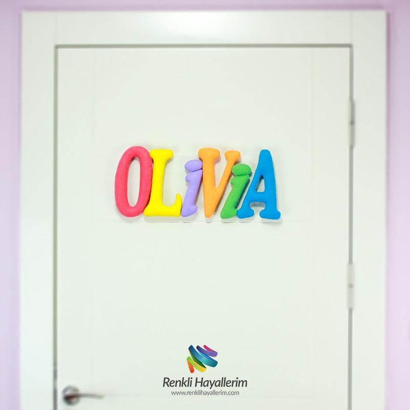 Olivia isimli bebek odası kapı süsü