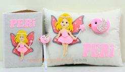 Peri isimli Peri Kızı Takı Yastığı Takımı