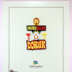 Yavru Aslan Oda Kapı Süsü Galatasaray