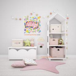 Bahar Esintisi quilling bebek odası dekoratif çerçeve
