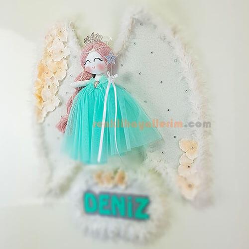 Lale Melek Kanatlı Kız Bebek Kapı Süsü