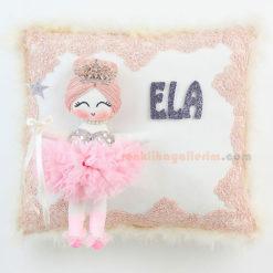 Ela isimli Lupin Melek Bebek Takı ve Süs Yastığı