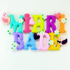 Mihri Bade isimli isimlik bebek odası kapı süsü