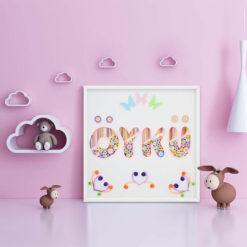 Pamuk Şeker isimli quilling art Bebek Odası Duvar Süsü