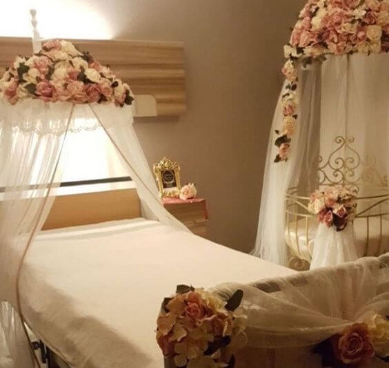 Bebek Yatağı, Anne Yatağı ve Cibinlik - Hastane Odası Süsleme