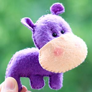 Keçe Hipopotam Figürü
