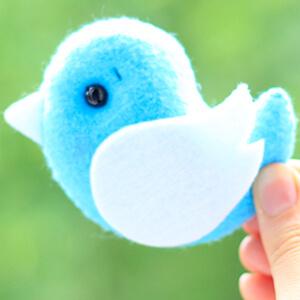 Keçe Mavi Kuş Figürü