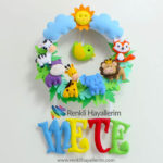 isimli erkek bebek kapı süsü tasarımları