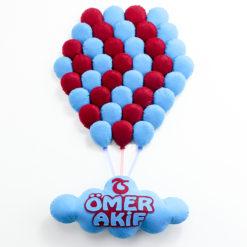 40 Balonlu Bordo Mavi Kapı Süsü - Trabzonspor