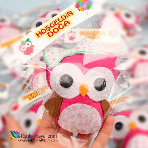 Baykuş Kız Bebek Magnet