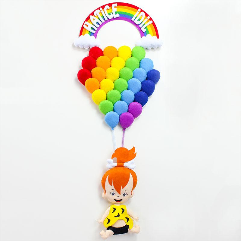 Çok Balonlu Çakıl Bebek Kapı Süsü - Hatice İdil