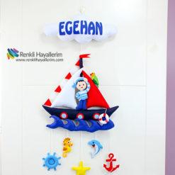 Egehan Denizci Erkek Bebek Kapı Süsü