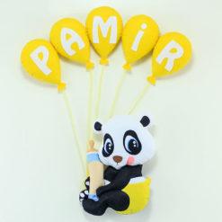 Panda Bebek Kapı Süsü - Pamir