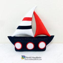 Yelkenli Gemi Takı ve Süs Yastığı