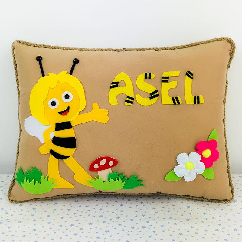 Arı Maya Bebek Takı Yastığı - Asel
