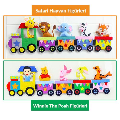 Trenli Kapı Süsü Tren Üstü Vagon Figürleri